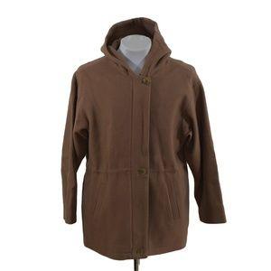 J. Percy Womens Hooded Wool Adirondack Coat Size 6